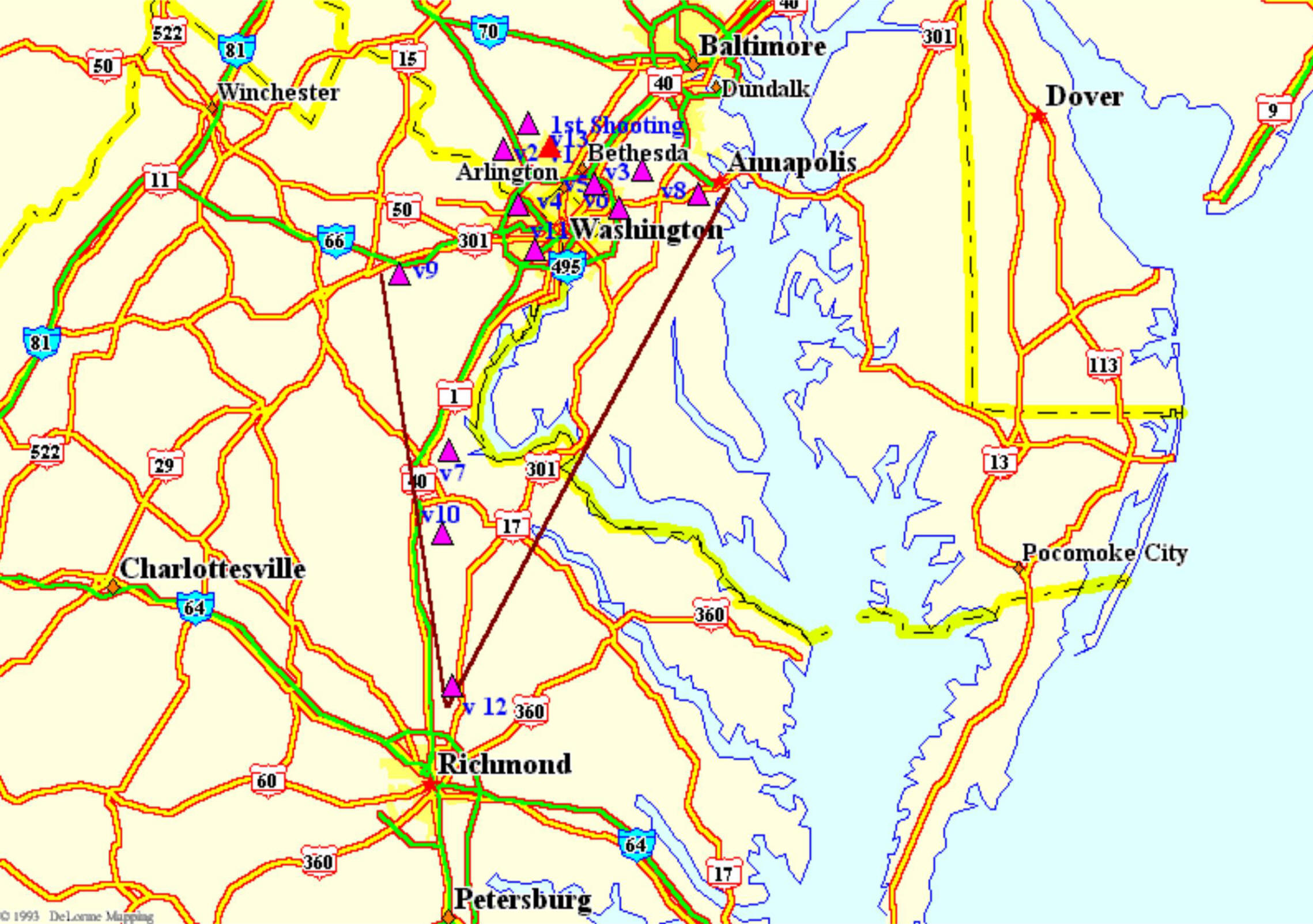 Maryland's Sniper Geographical Profile by Dr. Maurice Godwin on